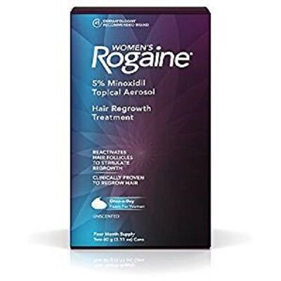 ROGAINE 5278022 Women`s 5 % Minoxidil Hair Foam-4 month supply EXP 06/2019 later