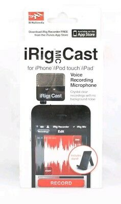 IK Multimedia iRig Mic Cast Voice Recording Microphone for iPhone BRAND NEW