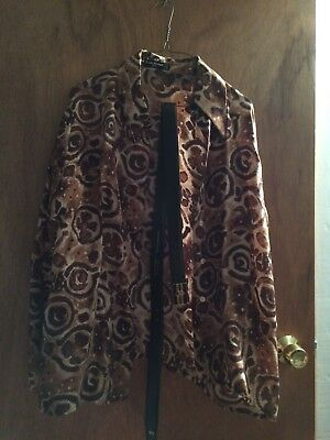 Designer Louis Feraud Lot Blouse And Real Leather Belt And Buckle No Reserve!!