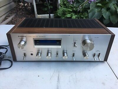 Pioneer Amplifier Sa-6800 Sa receiver Stereo Vtg Wooden Cabinet Tuner Cover