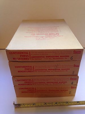 Vintage CONTINENTAL PRESS Educational Booklets (4 FULL boxes, VERY rare items!)