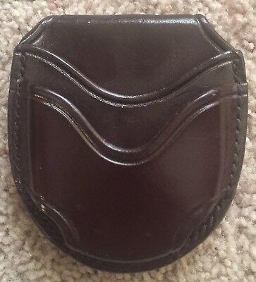 Don Hume Handcuff Case Open Top Handcuff Car Brown Leather Police Security Pouch