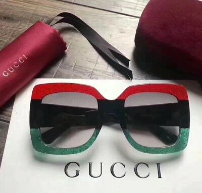 75fa9c70683 NEW AUTHENTIC GUCCI GG0083S 008 Black Grey 55-24-140 Sunglasses Made ...