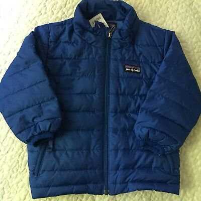 patagonia baby toddler boys girls puffer coat blue royal 12 months
