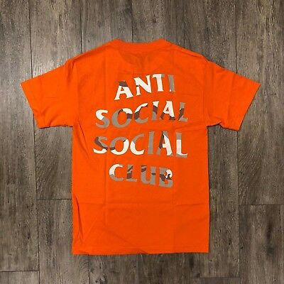 9b32fe8bb38b Auth Anti Social Social Club ASSC camo logo Storm Orange Tee S-XL Supreme  Bape