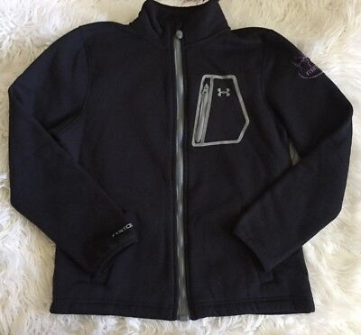 Under Armour Youth Kids Large Black Full Zip X Storm Hand Pocket Jacket *read