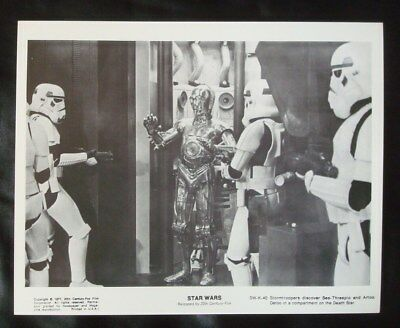 **STAR WARS** B&W 8x10 Movie Photo/Still C3PO Imperial Storm TROOPERS