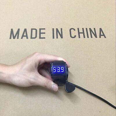 24V-72V EBike Thumb Throttle with LCD Digital Battery Voltage Display