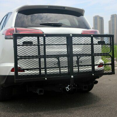 """Portable 60"""" x 23.5"""" inch Cargo Carrier Hitch Mount Folding Basket Luggage Rack"""