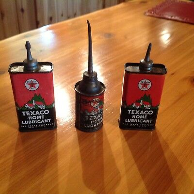 Vintage  Texaco Home Lubes from the 1930's. Super price for lot of 3