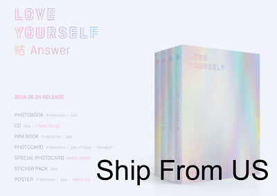 BTS LOVE YOURSELF 結 'answer'  Ship From US + Tracking Option Unfolded Poster