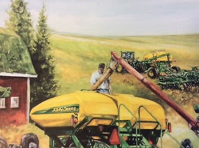 JOHN DEERE ART PRINT - SEEDING THE FUTURE by R L CROUSE - S/N462