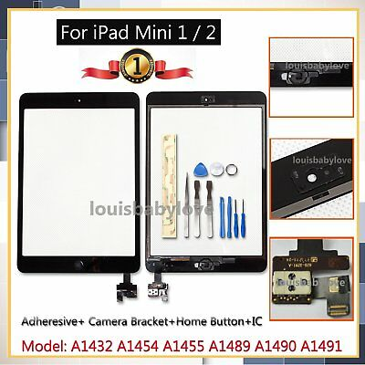 Screen For iPad mini 1 2 Touch Digitizer Replacement Home Button IC Tools Black
