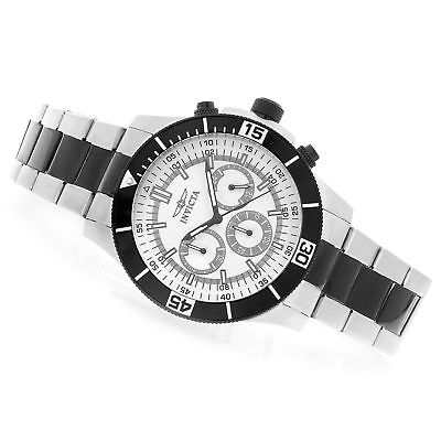 New Mens Invicta 12839 45MM Specialty Black Chronograph Stainless Steel Watch