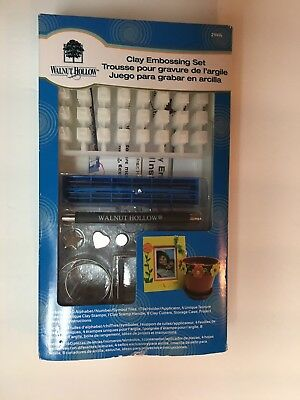 Walnut Hollow Clay Embossing Set New