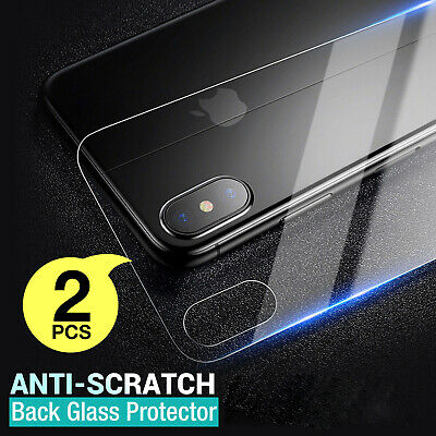 2 X Back Rear Tempered Glass Protector Film For Apple iPhone X 8 Plus XR XS MAX