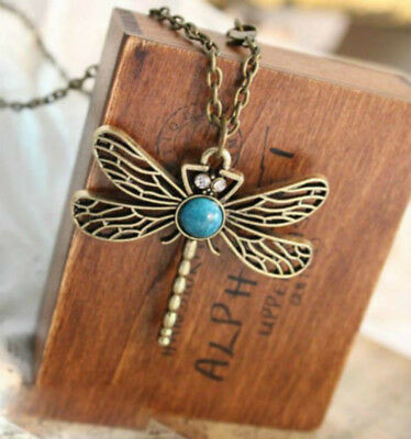 Animal Necklace Natural Stone Dragonfly Pendant Jewelry Fress Shipping
