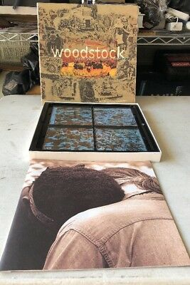 Woodstock Three Days of Peace and Music 25th Anniversary 4 CD and Book pre-owend