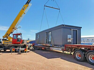 6m x 3m Portable Site Office / Spare Room with Unisex toilet