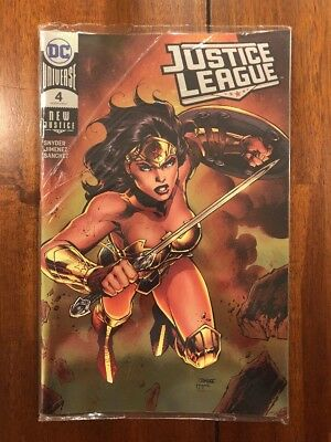 DC JUSTICE LEAGUE #4 Jim Lee Foil Cover Variant 2018 SDCC Exclusive IN HAND