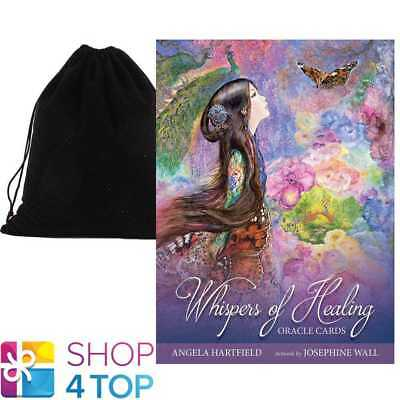 Whispers Of Healing Oracle Deck Cards Esoteric Blue Angel With Velvet Bag New