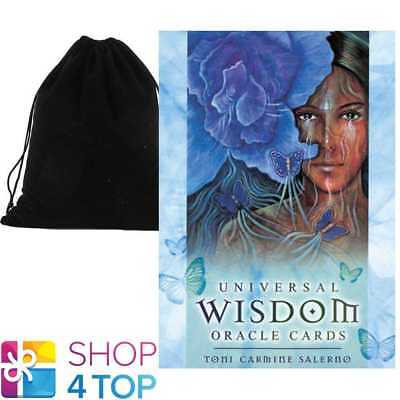 Universal Wisdom Oracle Deck Cards Esoteric Telling Blue Angel With Velvet Bag