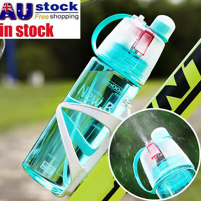 600ml BPA-Free Sport Mist Spray Water Bottles Drinking Cups Cycling Running AU
