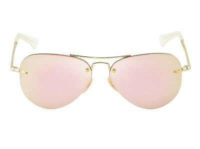 fd51f8380d Ray-Ban RB3449 001 E4 Gold Frame Pink Mirror Lenses Unisex Sunglasses 58mm