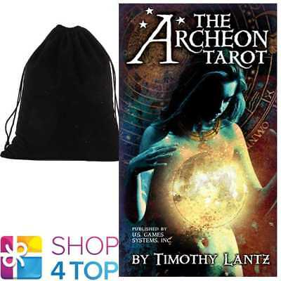 The Archeon Tarot Cards Deck By Timothy Lantz Us Games Systems With Velvet Bag