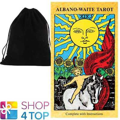Albano Waite Tarot Deck Cards Esoteric Telling Us Games Systems With Velvet Bag