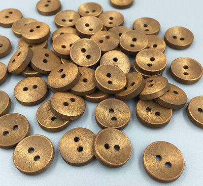 DIY 100pcs  Wooden Buttons Round 2 Holes Button Sewing Scrapbooking Crafts 15mm