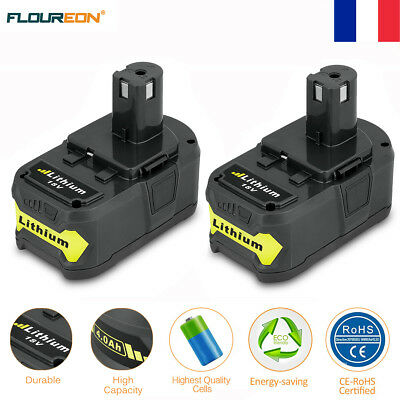 2x 4000mAh 18V Li-ion Batterie Pour Ryobi One Plus P108 RB18L40 P835 P108 P100
