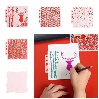 PET Hollow Layering Stencils For Wall Painting Scrapbooking Paper Card Template