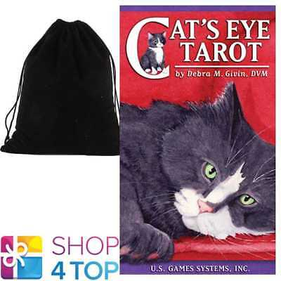 Cats Eye Tarot Deck Cards Esoteric Cute Us Games Systems With Velvet Bag New