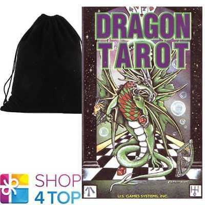 Dragon Tarot Cards Deck Esoteric Astrology Games Systems With Velvet Bag New