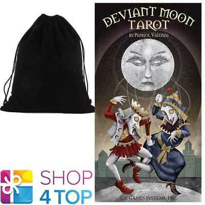 Deviant Moon Tarot Deck Cards Esoteric Us Games Systems With Velvet Bag New