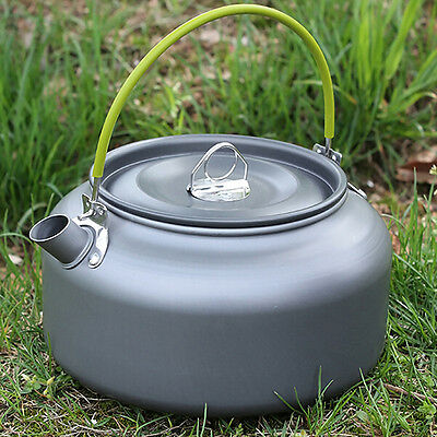 Titanium Outdoor Camping Cooking Survival Pot Water Kettle Teapot Coffee Tool ~~
