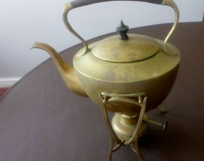 Brass Tipping Kettle With Spirit Burner And Stand Soutter marked