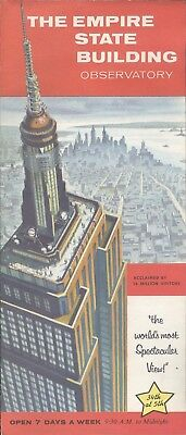 SELTEN! - Flyer - The Empire State Builduing Observatory - ca 1959