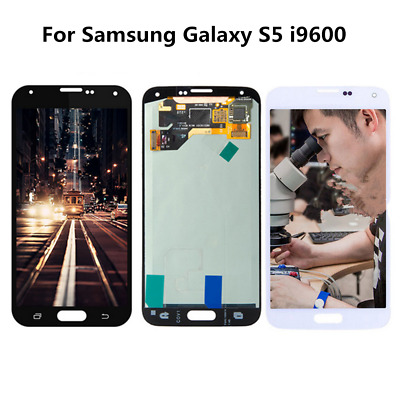 PER SAMSUNG GALAXY S5 G900F i9600 Touch Screen Digitizer + LCD AMOLED Display RL