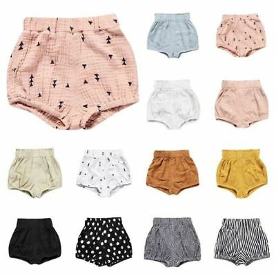 Baby Boys Girls Multi-color Casual Cotton Linen Shorts Solid Pants Harem 9-24M