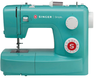 Singer Simple 3223 Retro Türkis Nähmaschine mechanisch Freiarm 23 Nähprogramme