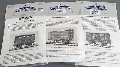 Steam Era Models Vic Goods Wagons X 3 Kits Very Good Cond Boxed Ho Gauge(Gn)