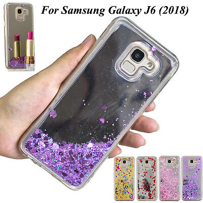 For Samsung Galaxy J6 (2018), Bling Liquid Glitter Quicksand Mirror Cover Case
