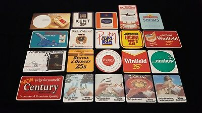 20 Cigarettes Smokes Cigars Beer Coasters