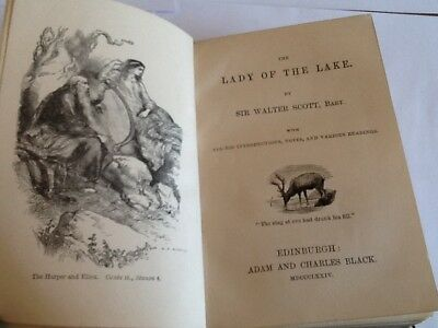 The Lady Of The Lake Sir Walter Scott 1874 Book