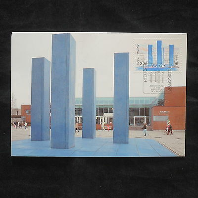 ZG-B121 FINLAND - Europa Cept, 1987, Maximum Card, Architecture, Postcard