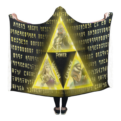 Special Offer Custom Legend of Zelda Wearable Durable Hooded Blanket 80x53 inch
