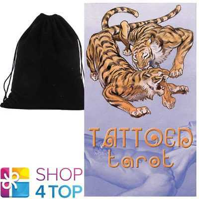 Tattoed Tarot Deck Cards Esoteric Telling Lo Scarabeo With Velvet Bag New