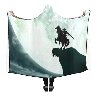 New Fashion Custom Legend of Zelda Wearable Durable Hooded Blanket 80x53 inch
